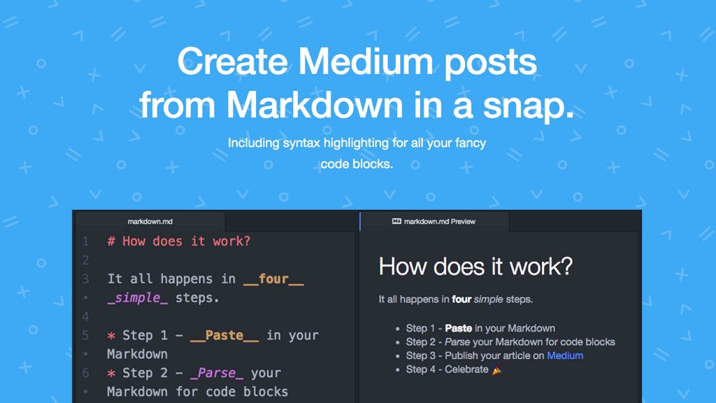 Create Medium posts from Markdown