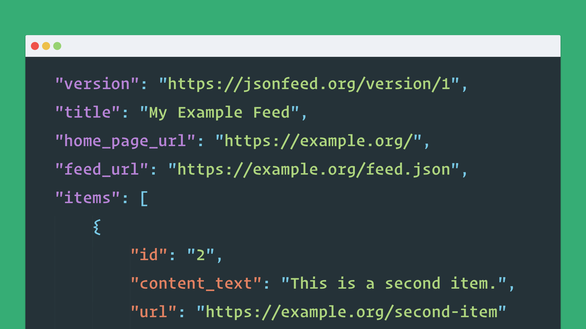 JSON Feed – A JSON based Spec for RSS or Atom Feeds