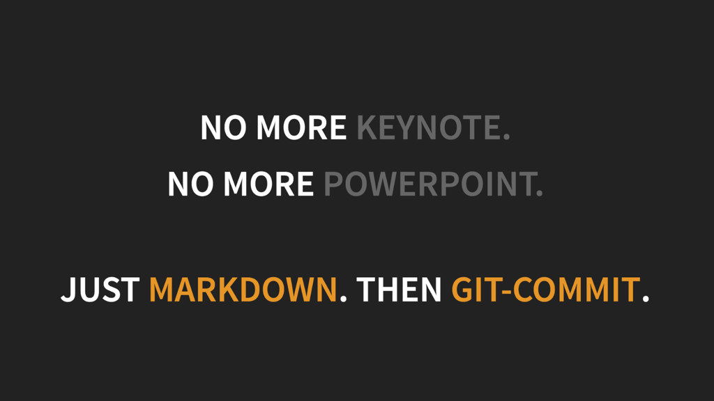 Markdown Powered Presentations with GitPitch