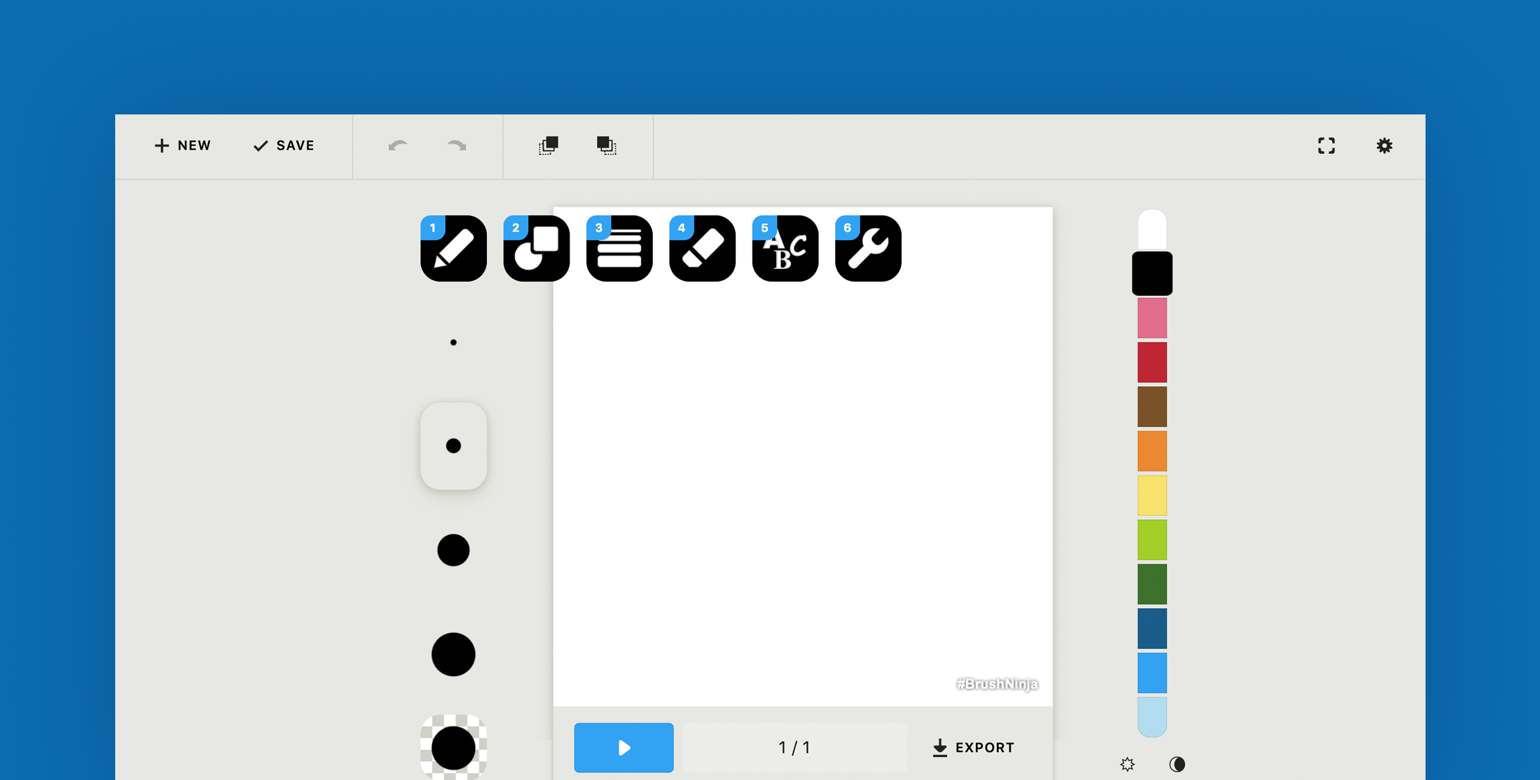 Create Animated Gif's With Brush Ninja