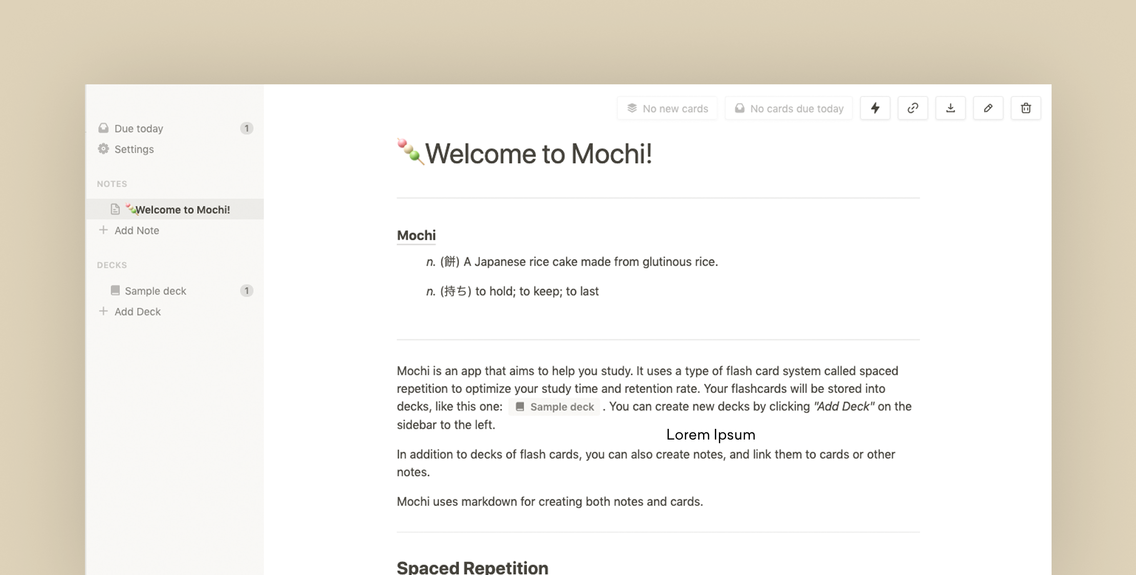 Mochi – Learn to Remember Anything with Flashcards and Spaced Repetition
