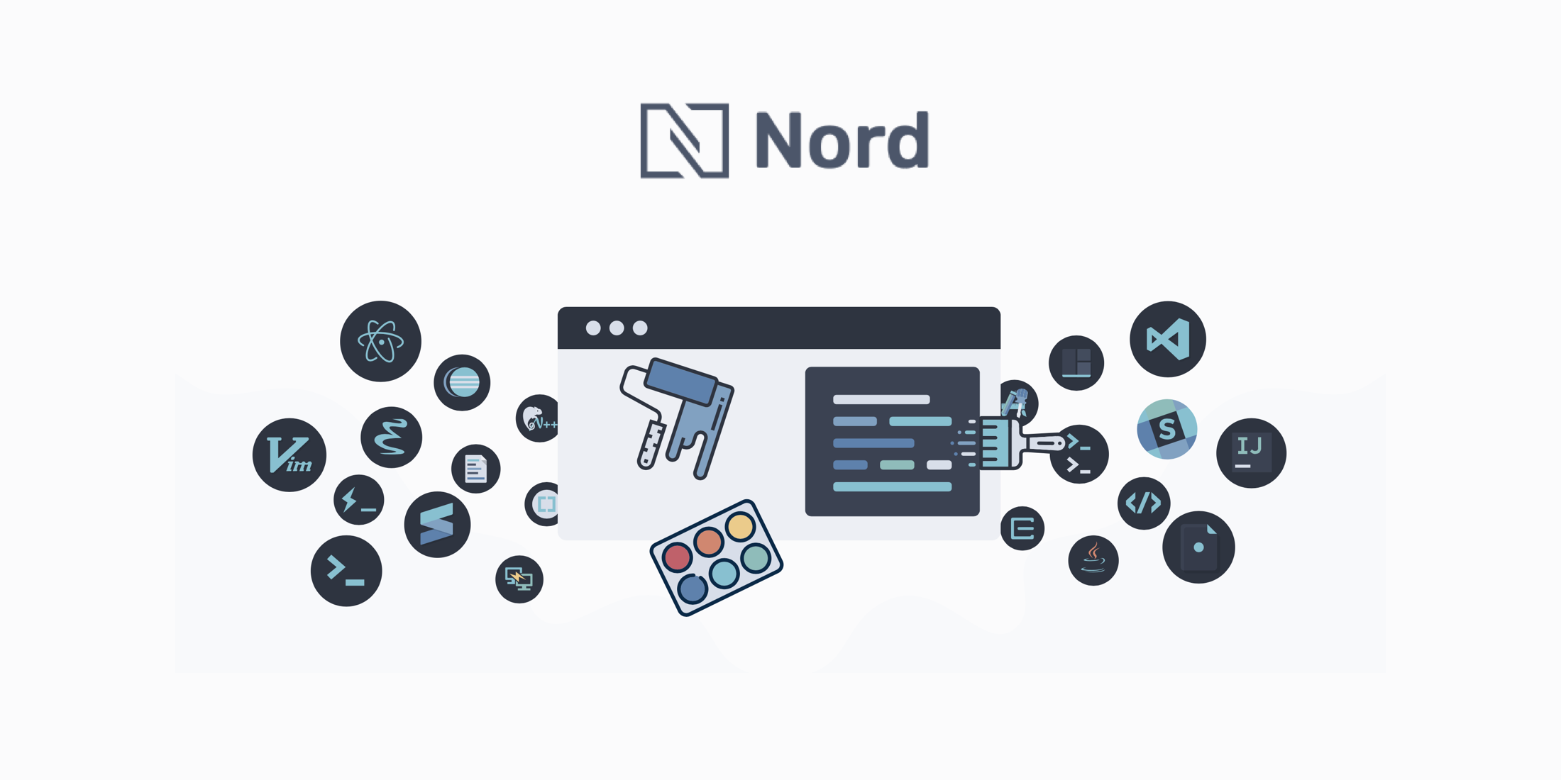 Nord – An arctic, north-bluish color palette